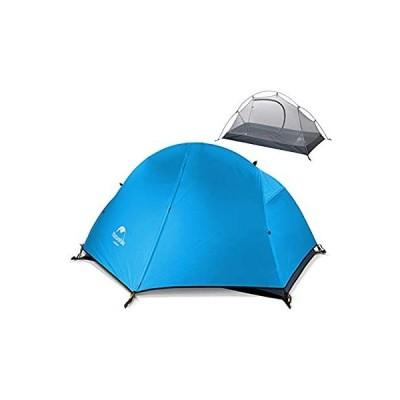 Naturehike テント 1人用 アウトドア キャンプ バイクツーリング 二重層テント 設営簡単 コンパクト 軽量 防水 登山 公園 海 防災 4