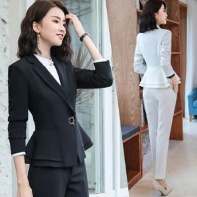 2020新作 フォーマル オフィス カジュアル レディース パンツスーツ 大きいサイズ 目玉 スーツセット 通勤 スカートスーツ 韓国ファショ