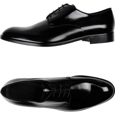 アルマーニ EMPORIO ARMANI メンズ 革靴・ビジネスシューズ シューズ・靴 Laced Shoes Black
