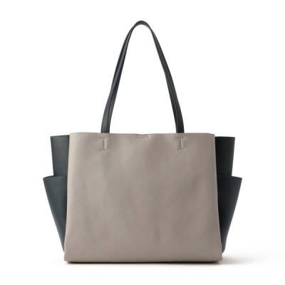 レディース 【在庫限り】SAC婦人合成皮革多ポケットトートバッグ グレー フリー