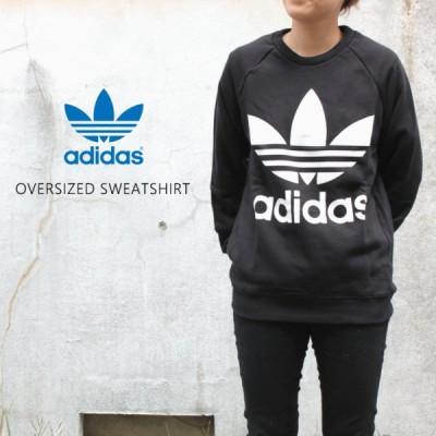 アディダス adidas ウェア オーバーサイズド スウェットシャツ OVERSIZED SWEATSHIRT ブラック DH3129
