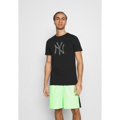 ニューエラ メンズ Tシャツ トップス NEW YORK YANKEES REFLECTIVE PRINT TEE - Club wear - black black