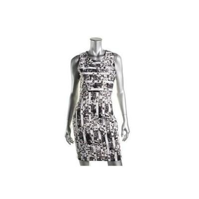 ドレス 女性  アクア アクア 6878 レディース B/W ノースリーブ ミニ ストライプd カジュアル ドレス M