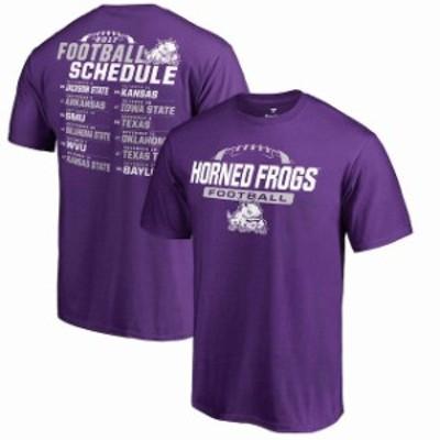 Fanatics Branded ファナティクス ブランド スポーツ用品  Fanatics Branded TCU Horned Frogs Purple 2017 Football Schedule T-Shirt