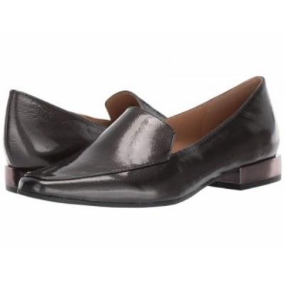 Naturalizer ナチュラライザー レディース 女性用 シューズ 靴 ローファー ボートシューズ Clea Gunmetal Crinkle Leather【送料無料】