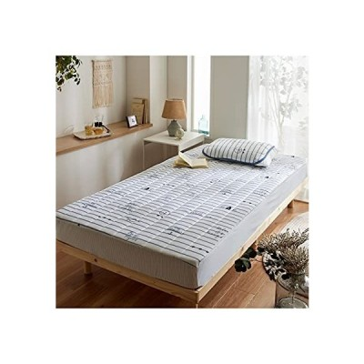 [nissen(ニッセン)] ベッドパッド・敷きバッド プリント 接触冷感接触冷感マリン柄BOXシーツ一体型敷きパッド オ