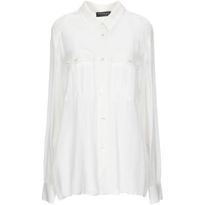 ツインセット シモーナ バルビエリ TWINSET シャツ アイボリー 44 レーヨン 100% シャツ
