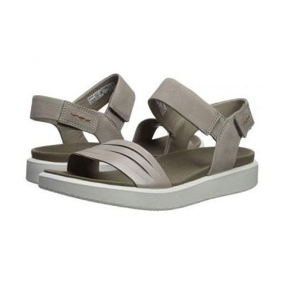 ECCO エコー レディース 女性用 シューズ 靴 サンダル Flowt Strap Sandal - Moonrock Silver/Warm Grey Metallic Cow Leather/Cow Nubuck