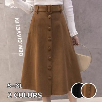 スカート ビジネススカート フェルトカート レディースミモレ丈スカー 秋冬大きいサイズスカート お呼ばれスカート二次会 通勤 着痩せ 結婚式  暖かい S~XL