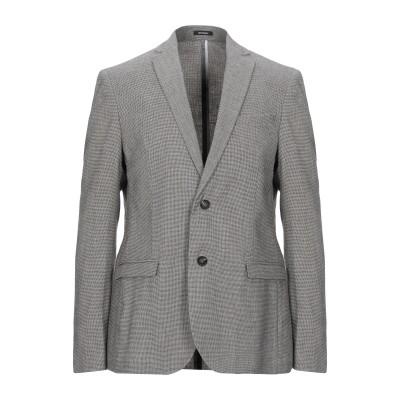 OFFICINA 36 テーラードジャケット ブラック 44 コットン 43% / ポリエステル 30% / 麻 25% / ポリウレタン 2% テ