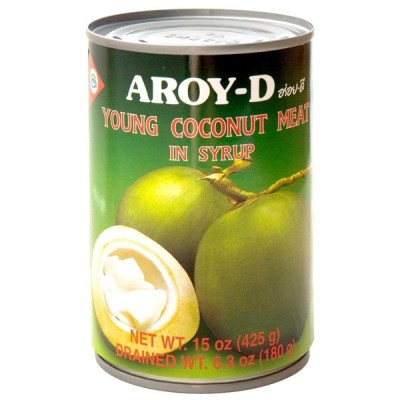 ココナッツ 果肉 南国 ココナッツミート ココナッツ果肉 缶詰 デザート 400ml (AROY D) エスニック料理