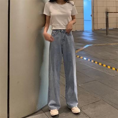 高レビュー多数✨超特価中 ハイウエスト 女性  ジーンズ 夏 韓国風 新しいデザイン  スタイル