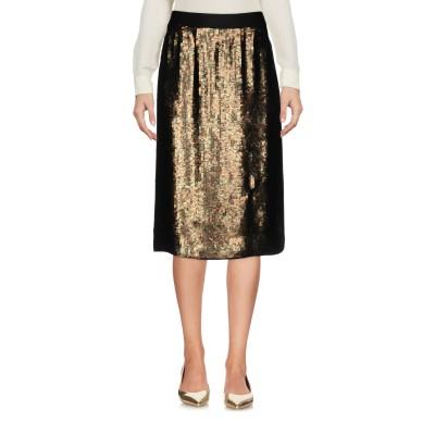 ティビ TIBI ひざ丈スカート グリーン 2 シルク 100% / ポリエチレン ひざ丈スカート