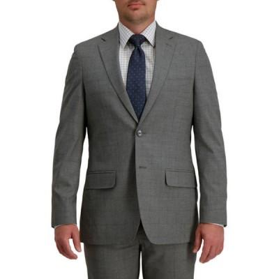 ハガー メンズ ジャケット・ブルゾン アウター Men's Signature Glen Plaid Windowpane Tailored Fit Two Button Flap Pocket Suit Separate Coat