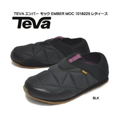 テバ 靴 スニーカー エンバー モック 1018225-15072003 BLK ブラック 撥水 キルト ニット スリッポン サンダル 秋冬靴 レディース 婦人