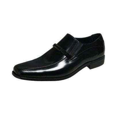 キャサリンハムネット メンズシューズ 3930ブラック ビジネスシューズ スワールモカビット付スリッポンドレスシューズ紳士靴