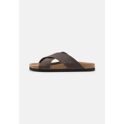ピアワン メンズ 靴 シューズ Mules - brown
