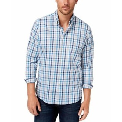 Barbour バブアー? ファッション アウター Barbour Mens Blue Size XL Performance Button Down Tailored Fit Shirt