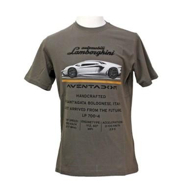 ランボルギーニ メンズ フューチャー アヴェンタドール Tシャツ マッドブラウン 9010121CCT046 (宅急便コンパクト対応)