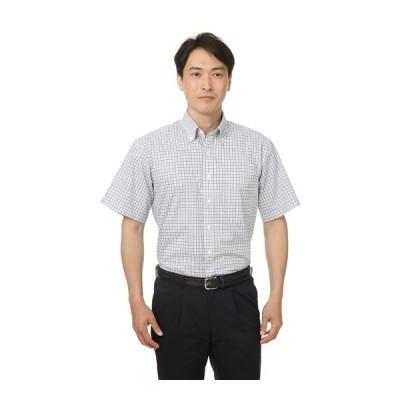 春夏用 ネイビー系 ボタンダウンシャツ【半袖】 CHRISTIAN ORANI