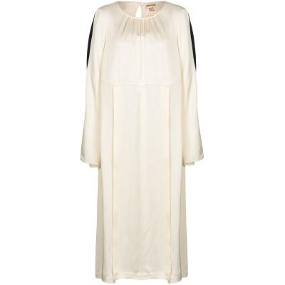 セミクチュール SEMICOUTURE 7分丈ワンピース・ドレス ベージュ 40 レーヨン 100% 7分丈ワンピース・ドレス