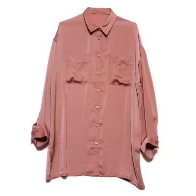 スタイルブロック STYLEBLOCK ヴィンテージサテンビッグシャツ (ピンク)