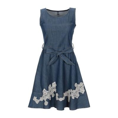 リュー ジョー LIU •JO ミニワンピース&ドレス ブルー 38 コットン 98% / ポリウレタン 2% ミニワンピース&ドレス