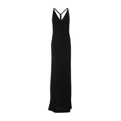 ディースクエアード DSQUARED2 ロングワンピース&ドレス ブラック S レーヨン 100% ロングワンピース&ドレス