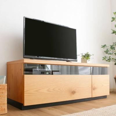[幅120] テレビ 日本製 ローテレビ台 60V型対応 完成品 節あり突板使用 切り離し可能
