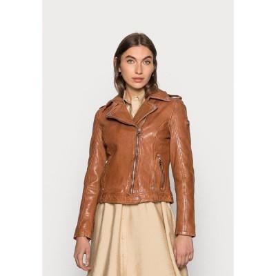 ジプシー ジャケット&ブルゾン レディース アウター Leather jacket - cognac