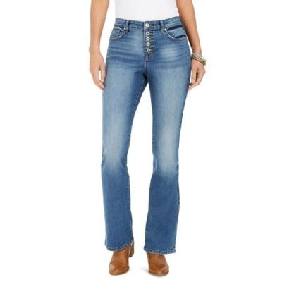 スタイルアンドコー レディース デニムパンツ ボトムス Button-Fly Boot-Cut Jeans