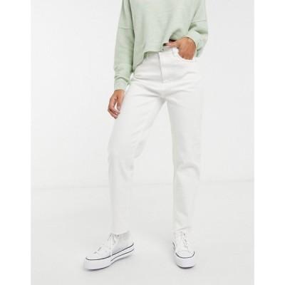 ピンキー Pimkie レディース ジーンズ・デニム ボトムス・パンツ recycled cotton straight leg jean in ecru ホワイト