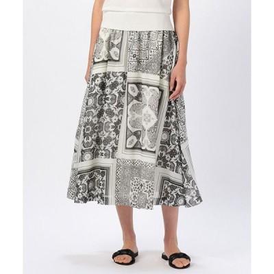 MOGA / モガ パッチワークペイズリーフレアスカート