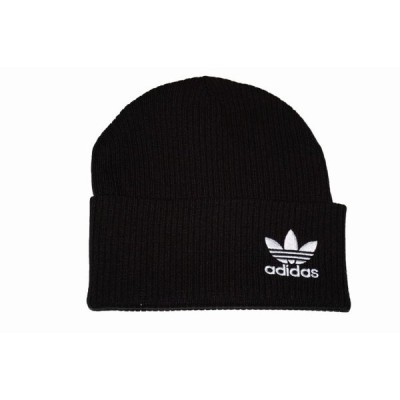 adidas アディダス オリジナルス ニット帽 黒 ED8724  ロゴ トレフィル 冬物 ブラック Originals