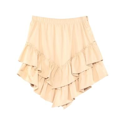 SOALLURE ミニスカート アイボリー 42 ポリウレタン 100% ミニスカート