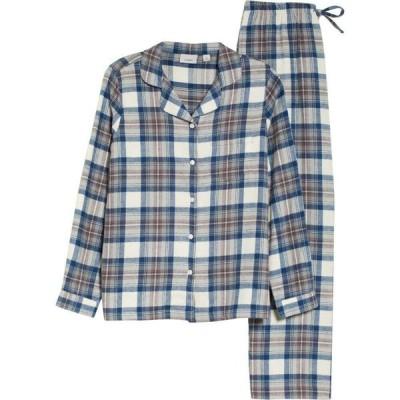 エルエルビーン L.L.BEAN レディース パジャマ・上下セット インナー・下着 Scotch Plaid Flannel Pajamas Indigo Tartan