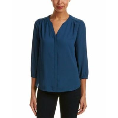 NYDJ  ファッション トップス Nydj Petite Pintuck Top Ps Blue