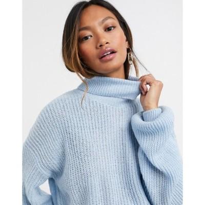 ヴィラ レディース ニット・セーター アウター Vila turtle neck sweater blue