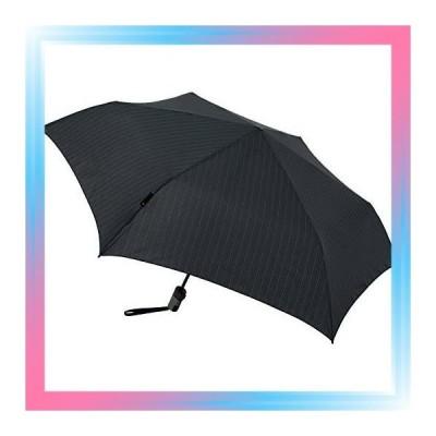 Pinstripe Black Knirps 折りたたみ傘 ワンタッチ自動開閉 軽量