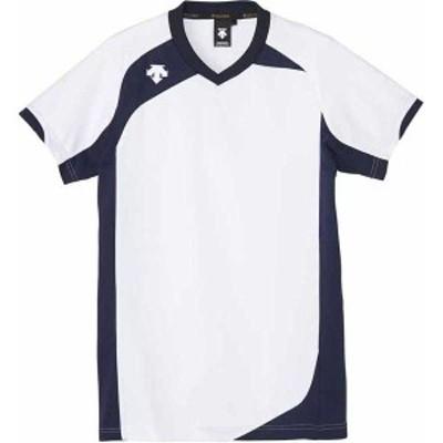 デサント DS-DSS4720-WHT-M 男女兼用 バレーボール 半袖ゲームシャツ(ホワイト/ネイビー・M)DESCENTE[DSDSS4720WHTM]【返品種別A】