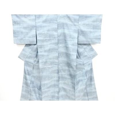 宗sou 雲取りに板垣模様織り出し西陣お召着物【リサイクル】【着】