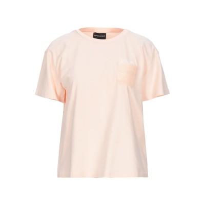 エンポリオ アルマーニ EMPORIO ARMANI T シャツ ペールピンク 36 コットン 95% / ポリウレタン 5% T シャツ