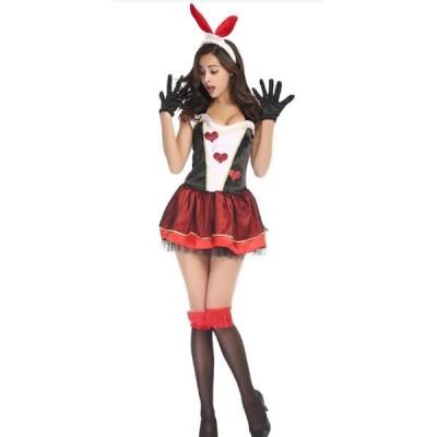 T4ウサギ バニー コスプレ コスチューム バニーガール セクシー ウサギ 衣装 アニマル うさ耳 大人 レディース クリスマス ハロウィン エロい