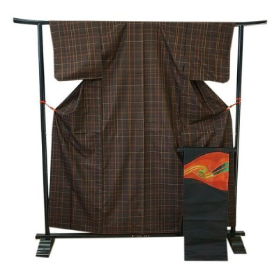 きものしらゆり 裄63.6cm 紬 アンサンブル なごや帯 セット 正絹 仕立上り 袷 148cm〜154cm T870F