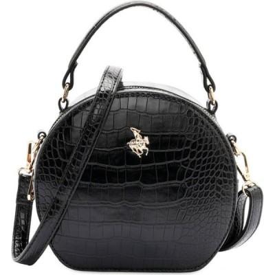 スイスポロ Swiss Polo レディース ハンドバッグ バッグ Croc Top Handle Sling Bag Black