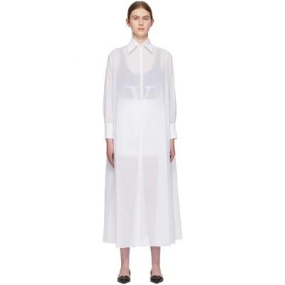 ヴァレンティノ Valentino レディース ワンピース シャツワンピース ワンピース・ドレス White Sheer Shirt Dress White