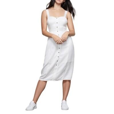 グッドアメリカン レディース ワンピース トップス The Bustier Button Down Dress (Regular & Plus Size) ID01