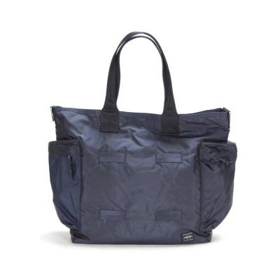 【カバンのセレクション】 吉田カバン ポーター フォース トートバッグ メンズ ミリタリー 大きめ 大容量 A4 B4 PORTER 855-07500 ユニセックス ネイビー フリー Bag&Luggage SELECTION