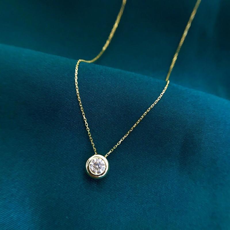 璽朵珠寶 [ 18K金 25分 泡泡 鑽石項鍊 ] 微鑲工藝 精品設計 鑽石權威 婚戒顧問 婚戒第一品牌 鑽戒 GIA