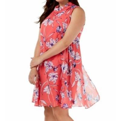 Jessica Howard ジェシカハワード ファッション ドレス Jessica Howard Womens Dress Pink Multi Size 20W Plus Sheath Chiffon